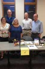 Cori Arnold, Steven Parlato, Carole Shmurak, Steve Liskow and Ira Spar at the Avon Public Library, June 2016